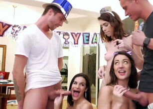 Wife first orgy